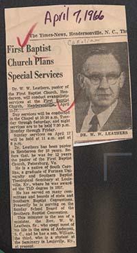 Leathers, William Warren Jr
