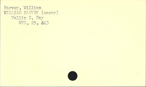 William harvey essay
