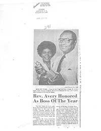 Avery, Nilous M. (N.C. Negro Baptists- Pastors)