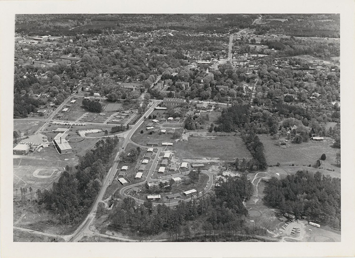 Horizontal View Of SEBTS Campus Looking East Up Stadium Drive From